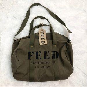 Feed Utility Duffle Bag Army Green Canvas